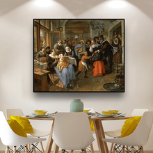 Cassisy Artwork Poster Jan Steen Cheated Groom Canvas Pastoral Painting & Calligraphy Print Living Room Decor Life Art No Framed платье jan steen jan steen mp002xw18z6i
