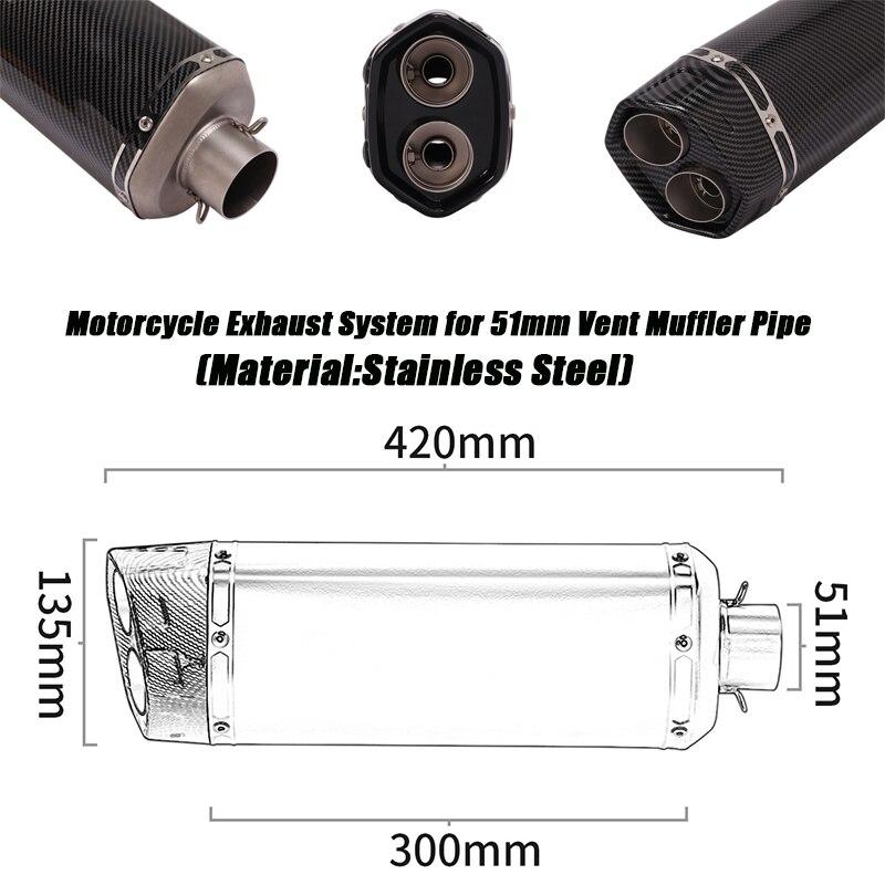 Мотоциклетные двойные выхлопные глушители трубы для 38 51 мм