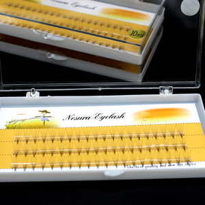 Image 5 - 0.07 C Curl Faux Mink Eyelashes 5D Pre made Lashes Fans Natural Long Individual Eyelash Extensions