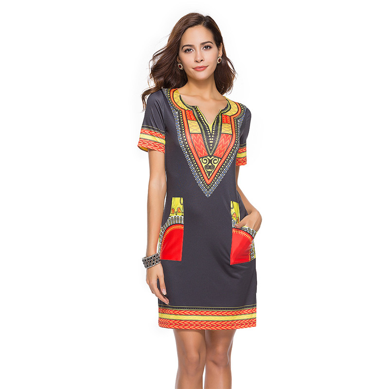 African Dress For Women Summer Dashiki African Dresses For Couples Print Rich Bazin Dashiki Top African Clothing Plus Size