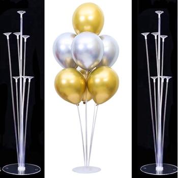 7x Tubes balloon stand birthday balloons arch stick holder wedding decoration baloon globos birthday party decorations kids ball 1