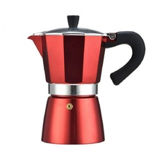 YRP Coffee Maker Red Aluminum Espresso Moka Coffee Pot 6cup Latte Mocha with Electrical Gas Stovetop Percolator Pot Cafeteira недорого