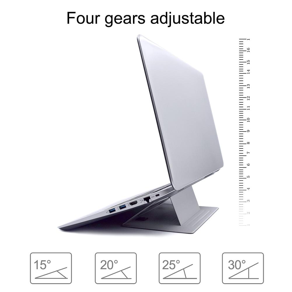 Регулируемая подставка для ноутбука, подставка для ноутбука, клейкая невидимая подставка, складной кронштейн, портативный держатель для планшета для iPad MacBook, ноутбуков