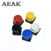 AEAK 12X12MM Big key module Big button module Light touch switch module with hat High level output for arduino usb DIY Kit(China)