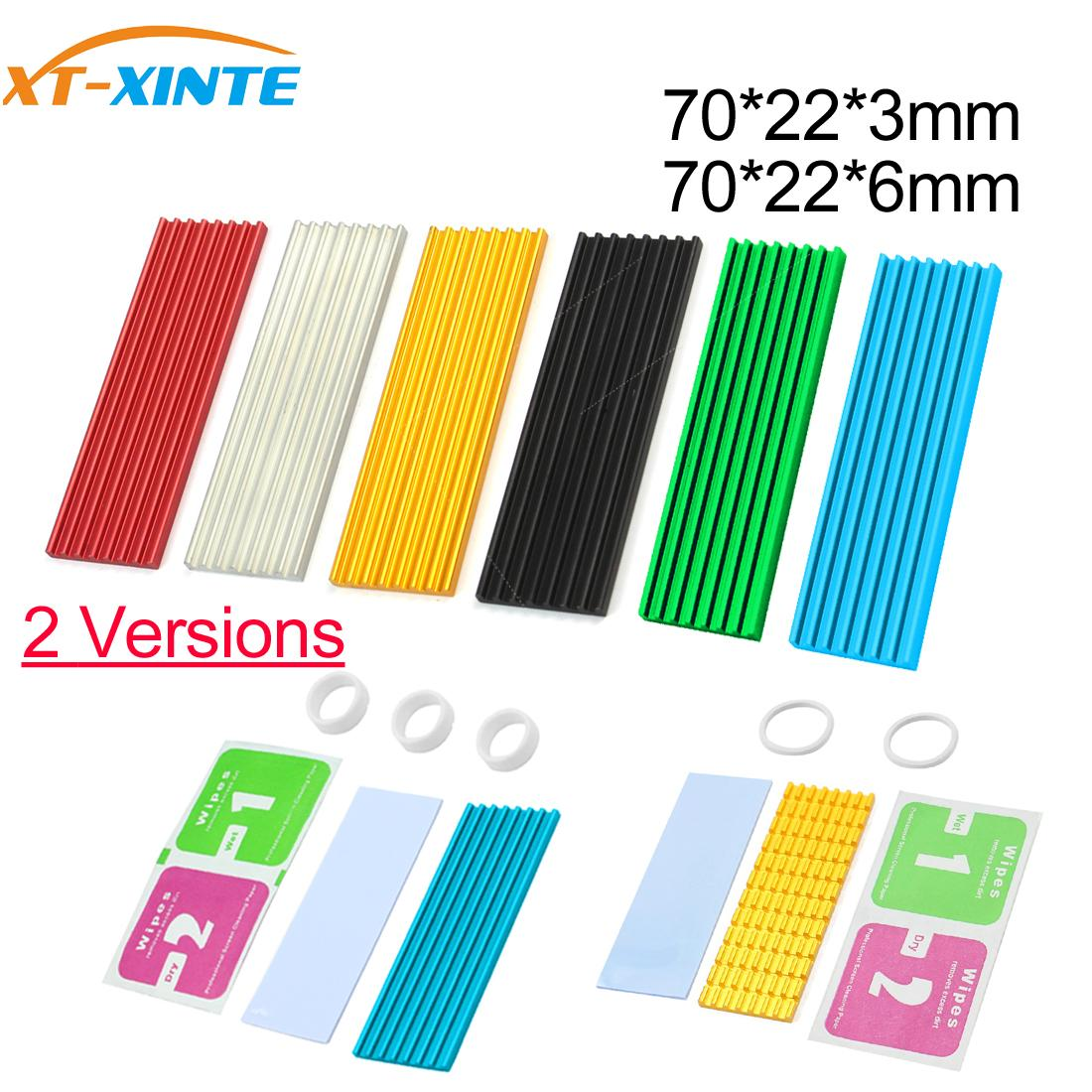 Aluminum Cooling Heat Sink Thermal Pads Heat Dissipation Radiator Thickness 3mm 6mm for M.2 NGFF SATA PCI E NVME m2 SSD Heatsink Fans & Cooling  - AliExpress