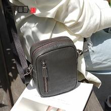 купить AETOO Handmade fashion cowhide Oblique cross bag retro leather casual shoulder bag mobile phone bag female men's style по цене 3499.5 рублей