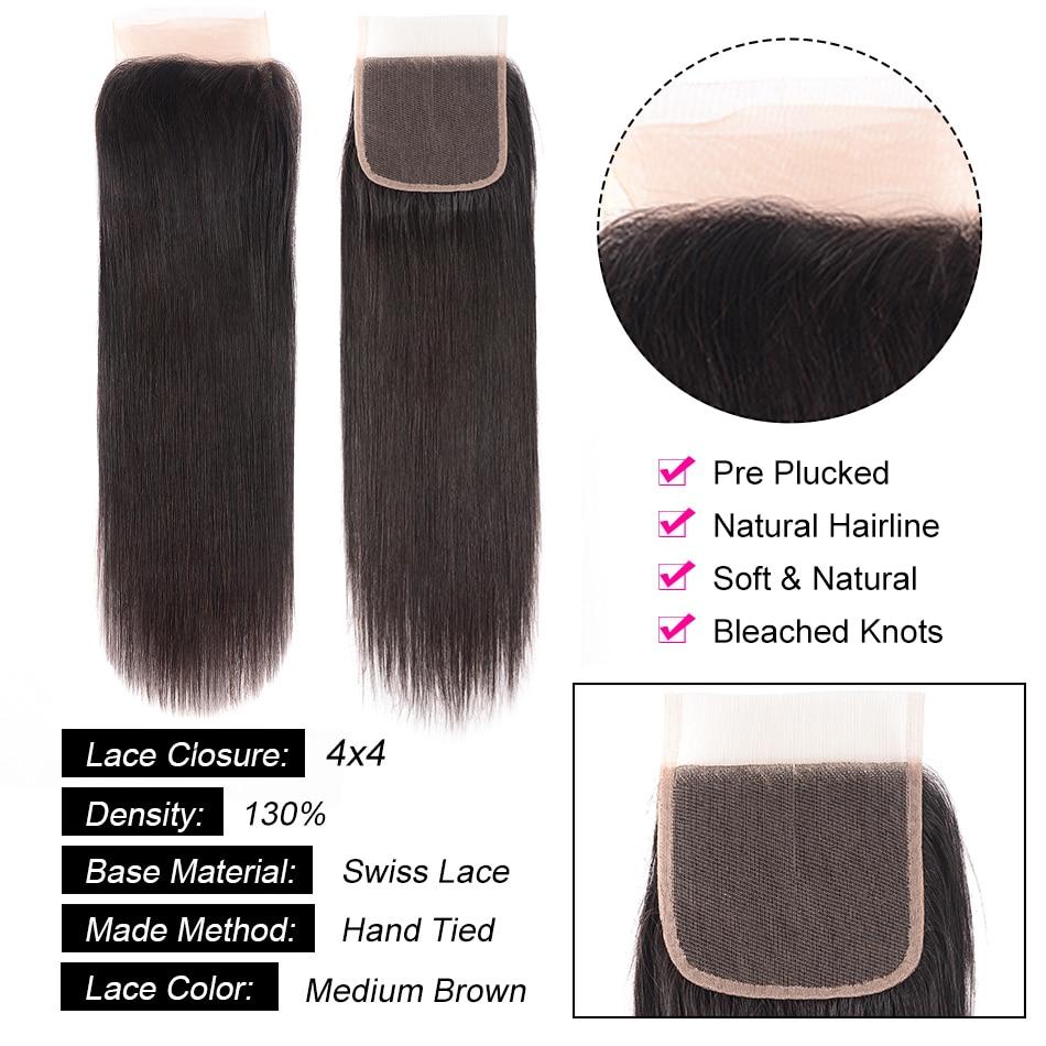 Hf2ea644dec6743eb9d55812d7e52e493v Aatifa Brazilian Straight Hair Bundles With Closure Human Hair Bundles With Closure Remy Bundles With Closure Hair Extension