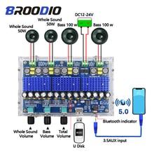 بلوتوث 5.0 TDA3116D2 مضخم رقمي مجلس أربع قنوات المزدوج باس ستيريو مزدوج 2*50 واط + 2*100 واط مكبرات الصوت مع ضبط