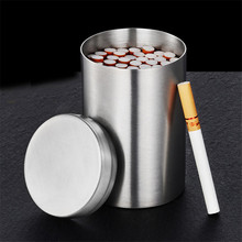 Cigarette Box Metal Can Hold 50 Pcs for Lighter Case Stainless Steel Smoke Storage Sealed Tank