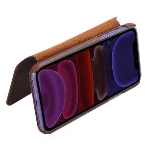 Image 2 - Solque 정품 가죽 플립 북 케이스 아이폰 11 12 프로 최대 미니 전화 커버 럭셔리 레트로 빈티지 카드 홀더 지갑 케이스