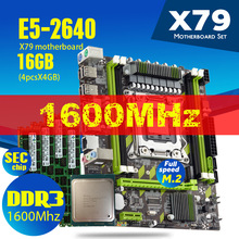 Xeon E5 2640 CPU E5-2640 X79-G  X79 Motherboard Set With LGA2011 Combos  4pcs * 4GB = 16GB Memory DDR3 RAM PC3 12800R 1600Mhz