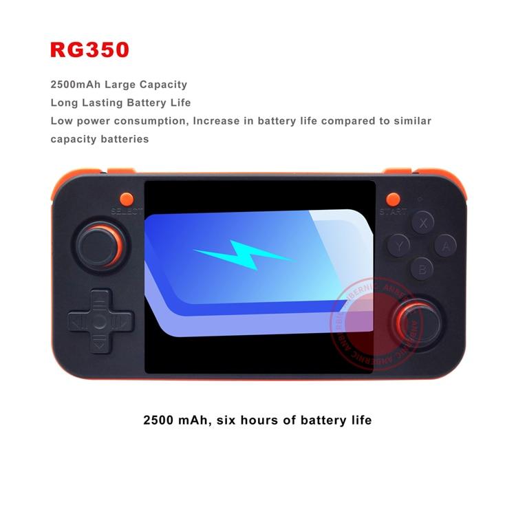 ANBERNIC nuevo juego Retro RG350 consola de videojuegos portátil MINI 64 Bit 3,5 pulgadas pantalla IPS 16G + 32G TF jugador de juegos RG 350 PS1 - 4