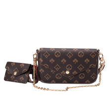 Messenger bag 2021 new printed ladies chain small square bag two-piece combination shoulder bag trendy street female bag