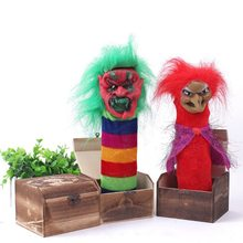 Halloween Scary Box Mischievous Electric Voice Activated Horror Box Surprise Toys Prank Box for Parties Fools Day Halloween(China)