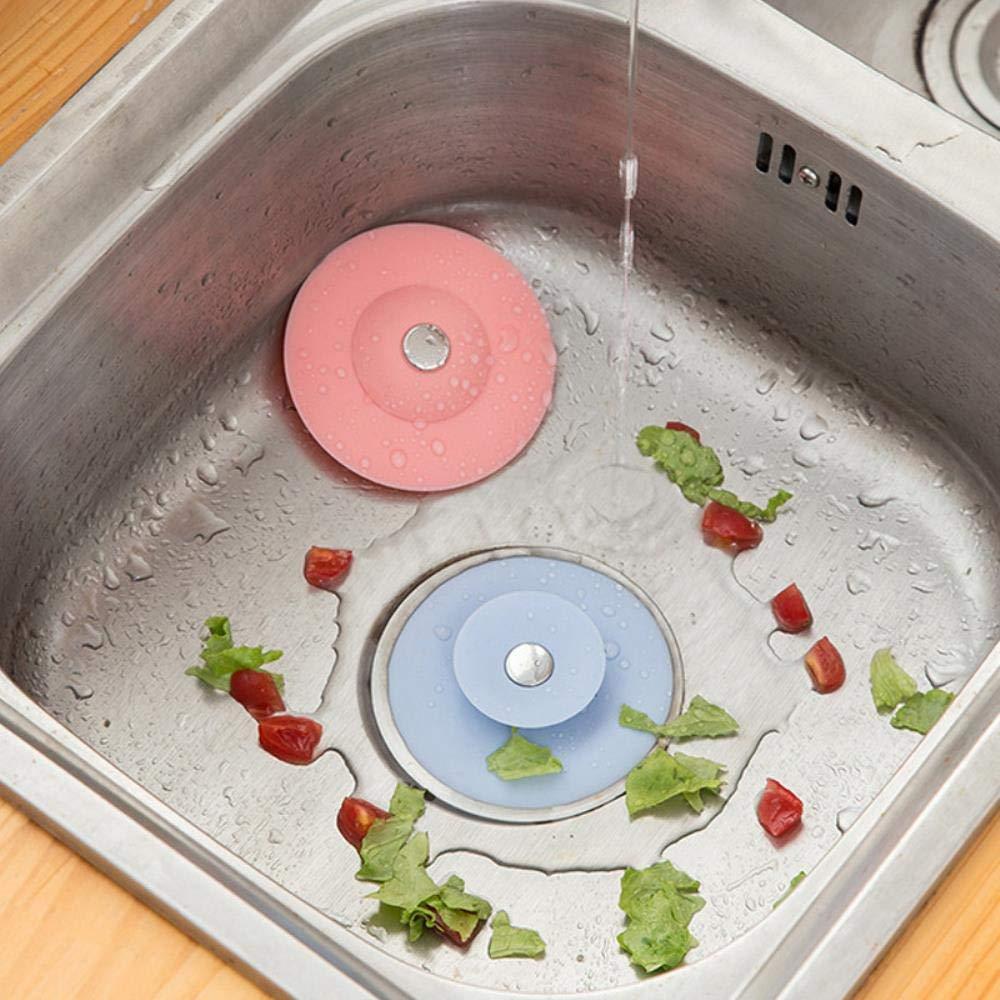1PC Rubber Circle Sink Strainer Filter Water Stopper Floor Drain Hair Catcher Bathtub Plug Bathroom Kitchen Basin Stopper Drains
