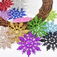 Colgante de copos de nieve para decoración de árbol de Navidad, decoración de fiesta de año nuevo, 12 piezas