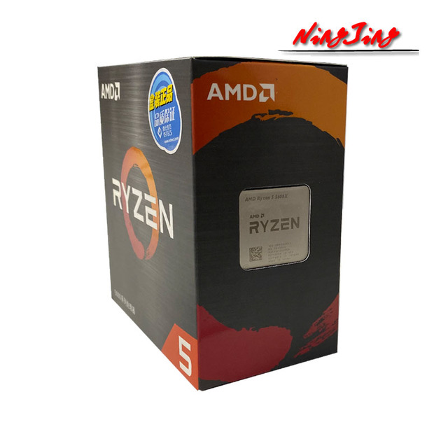 AMD Ryzen 5 5600X R5 5600X 3.7 GHz Six Core Twelve Thread CPU Processor 7NM 65W L3=32M 100 000000065 Socket AM4 New and with fan