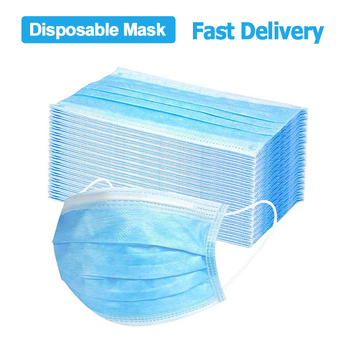 DROPSHIPPING 50pcs 3 Ply Mask dust protection Masks Disposable Face Masks Elastic Ear Loop Disposable Dust Filter Safety Mask