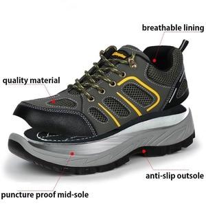 Image 2 - JACKSHIBO Mannen Veiligheid Werk Schoenen Laarzen Security Anti smashing Stalen Neus Veiligheid Werkschoenen Mannen Onverwoestbaar Laarzen Werken schoenen