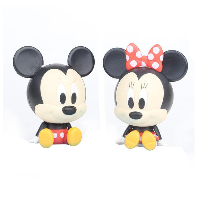 Wholesale 6 sets cute Mickey Minnie mouse model figures Cartoon anime Duck action toys surprise ball play toys giftsAction & Toy Figures