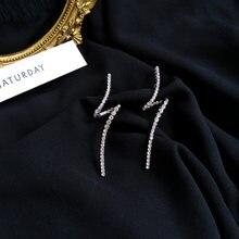 S925 иглы Модные ювелирные изделия металлические висячие серьги