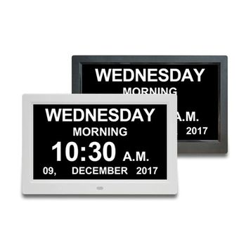 10.1 Inch 1280x800 Advertising Player Digital Clock Calendar with Date Reminder