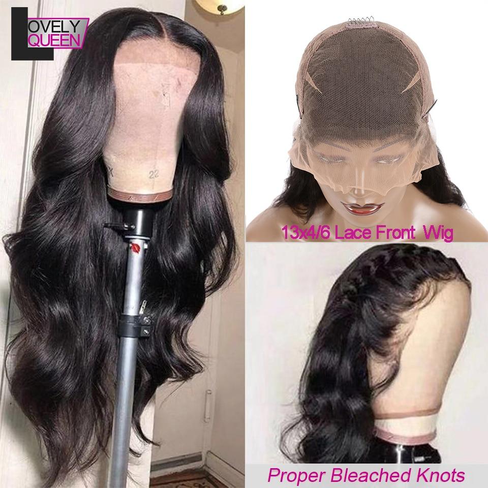 LOVELY QUEEN Brazilian Body Wave Wig Lace Front Human Hair Wig 150 Density Frontal Wig Medium Innrech Market.com