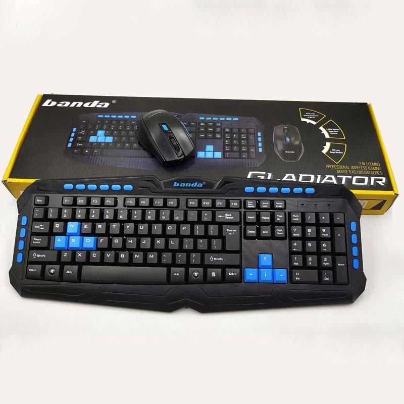 Banda W700 Wireless Set USB Keyboard Office Gaming Keyboard Laptop Desktop Waterproof Keyboard