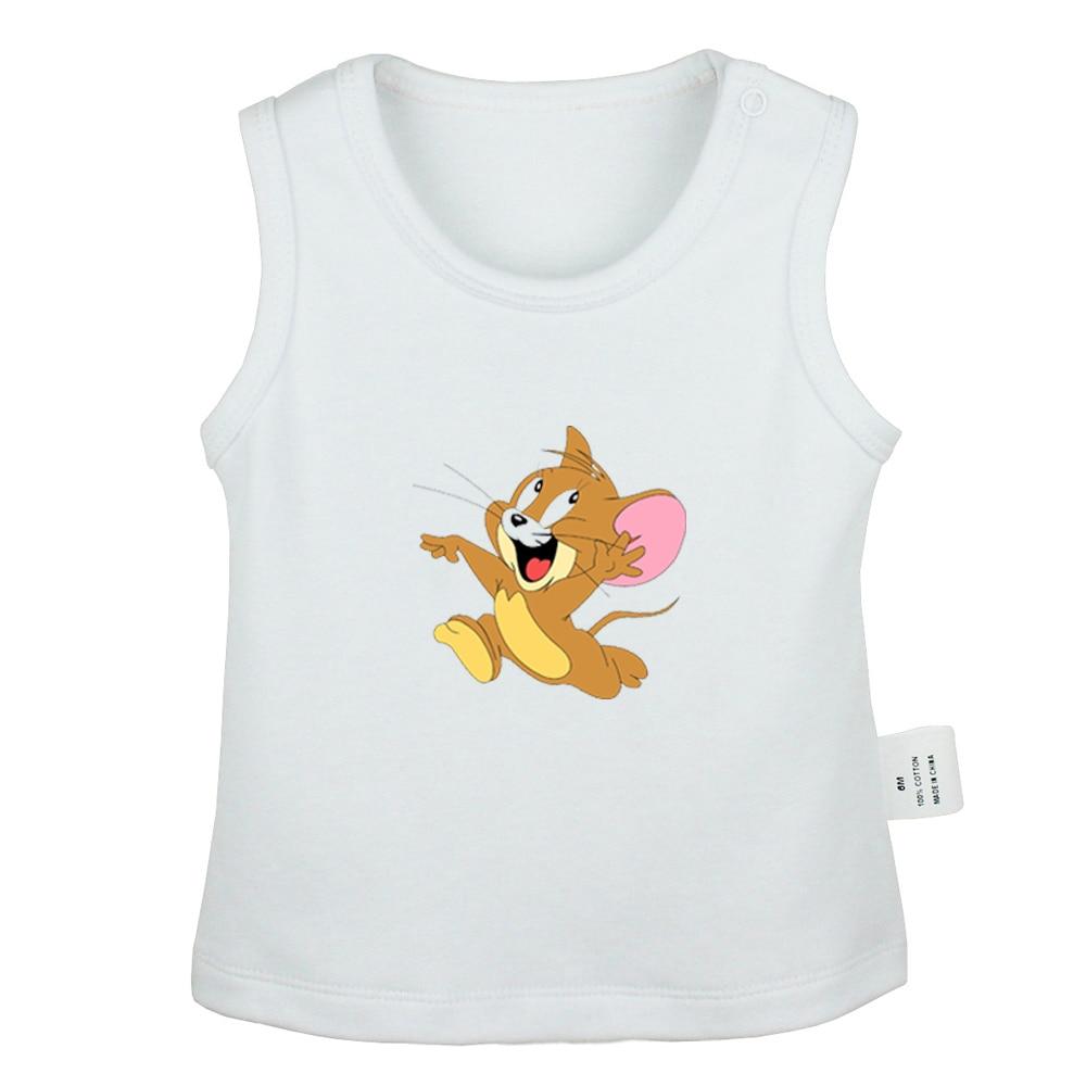 Mèo Tom Và Jerry Chuột Không Cảm Ứng Tôi Thảo Nguyên Sói Thiết Kế Sơ Sinh Xe  Tăng Cao Cấp Cho Bé Áo Vest Không Tay Trẻ Sơ Sinh bộ Quần Áo