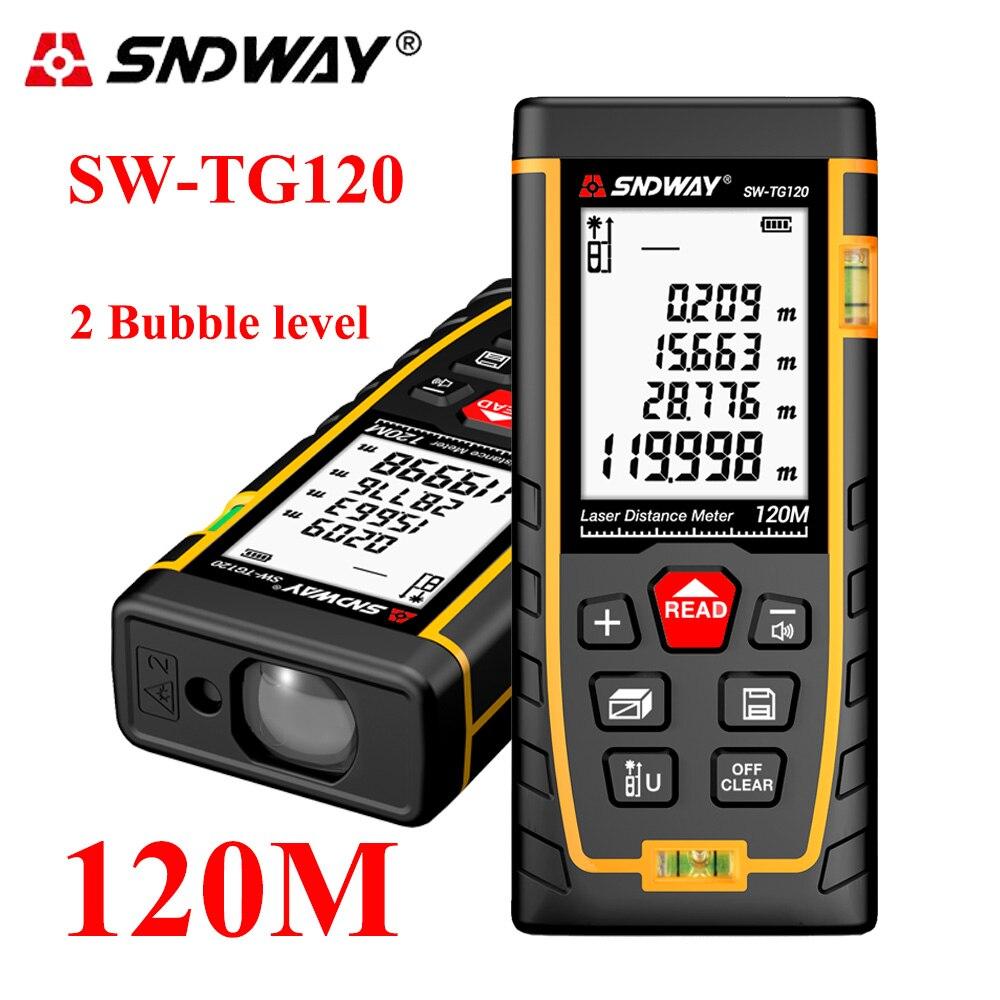 SNDWAY 40M-120M Laser-distanzmessgerät Laser-entfernungsmesser trena laser wasserwaage range finder maßband tester