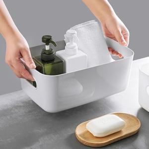Storage Box Plastic Storage Basket Basket Kitchen Desktop Sundries Snack Toilet Bathroom Cosmetic Storage