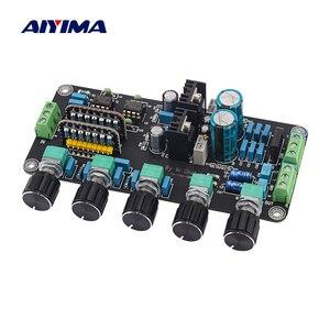 Image 1 - AIYIMA 프리 앰프 톤 보드 UPC4570C OP 앰프 스테레오 프리 앰프 볼륨 톤 컨트롤 Super OPA2604 AD827JN (LM317 + LM337 회로 포함)