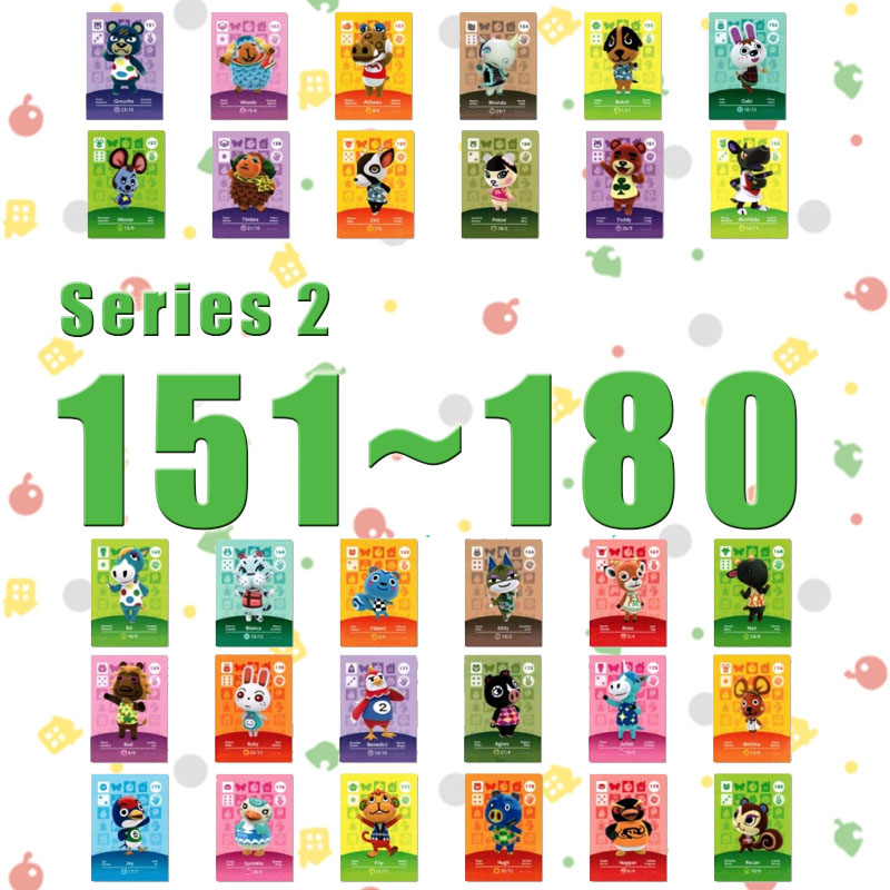 Animal Crossing Card Amiibo Card Work For NS Games Series 2 (151 To 180)