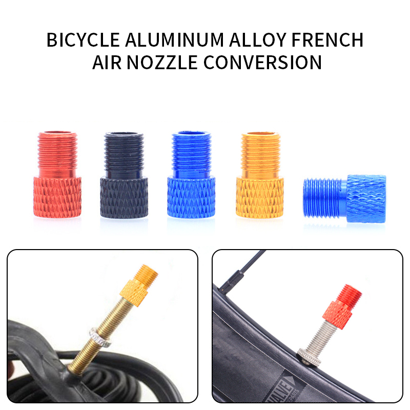 4pcs Bicycle Tire Aluminum Valve Adapter MTB Inner Tube Air Nozzle Extension