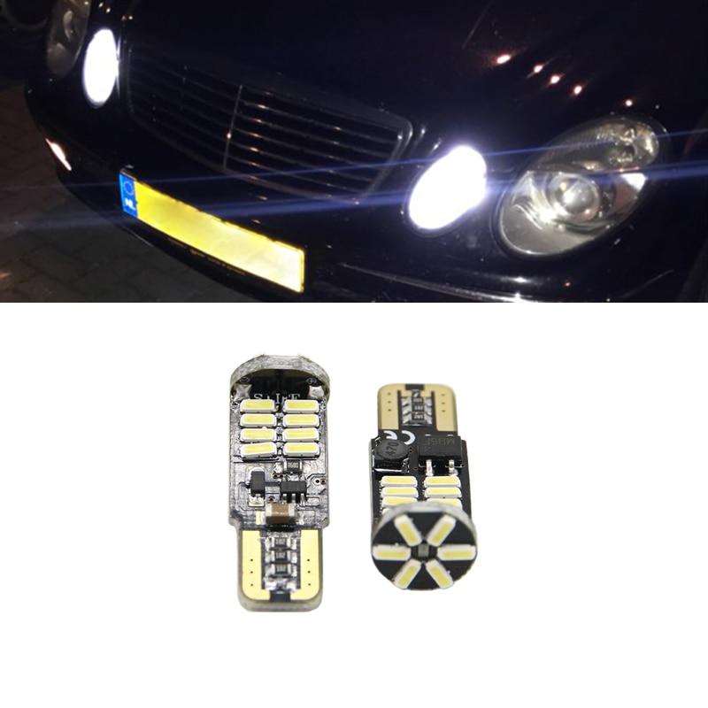 2x T10 194 168 W5W Светодиодный Боковой светильник без ошибок для Mercedes Benz W202 W220 W124 W211 W222 X204 W164 W204 W203 W210 парковочный светильник