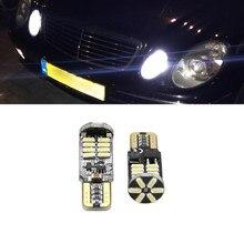 2x T10 194 168 W5W Lâmpada LED Nenhum Erro Sidelight Para Mercedes Benz W202 W220 W124 W211 W222 X204 W164 W204 W203 W210 Luz de Estacionamento