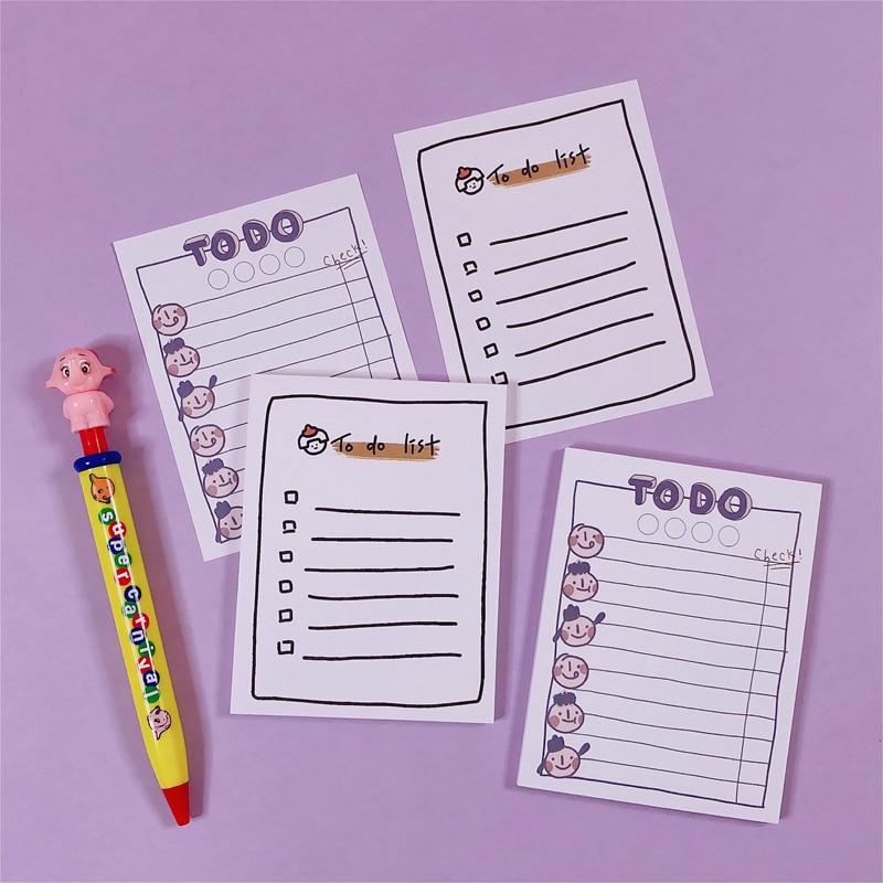 50 Sheets Ins Popular Cartoon Kawaii Note Book Memorandum Plan Book Memo Pad Portable Notepads For Writing Office Supply