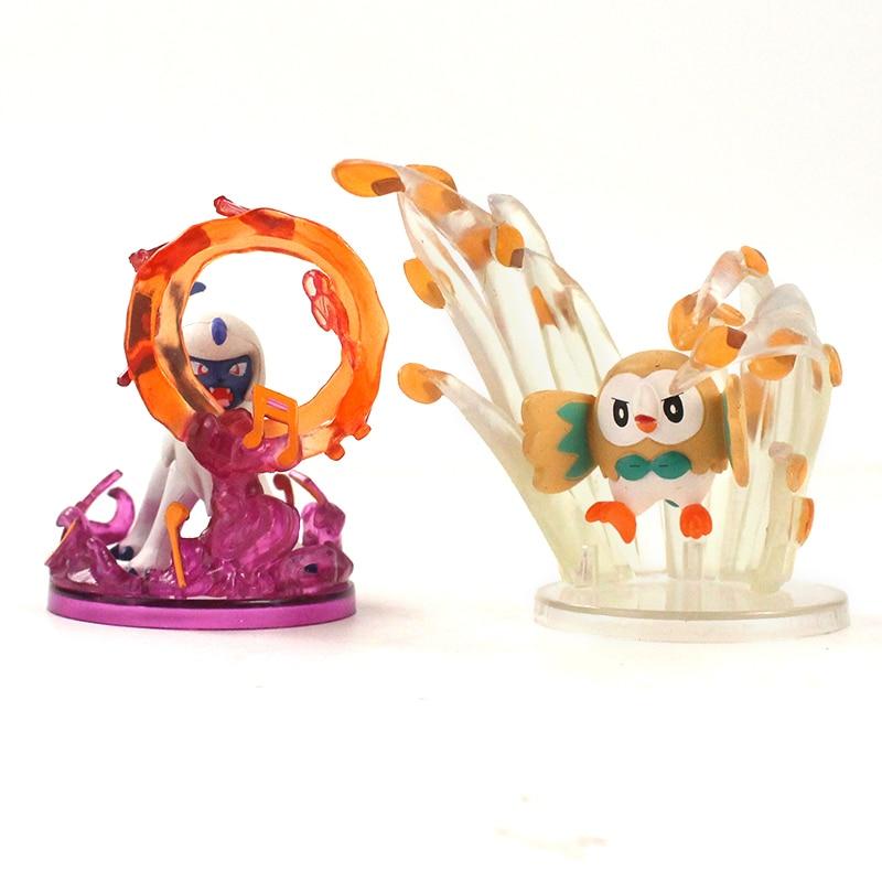 6pcs//set Pokemon Jigglypuff Cubone Litten Rowlet PVC Figure New In Box