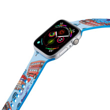 Bus Pattern Silicone Watch Strap for Apple Watch band Series