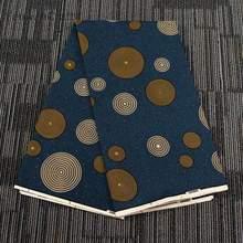 Chzimade 1 ヤードポリエステル 100% アフリカワックスプリント生地カラフルなサークルアフリカアンカラの生地ドレス作る工芸品