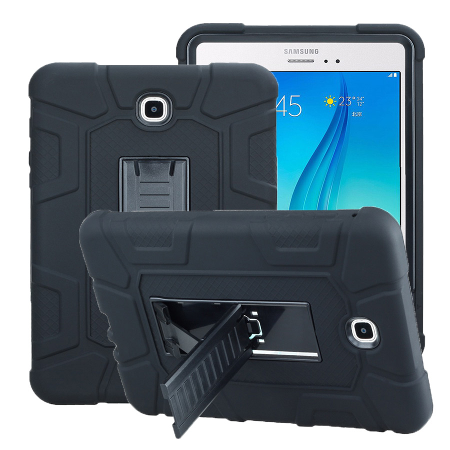Hybrid Rubber Plastic+Silicone Shockproof Case For Samsung Tab a 8.0 SM-T350 SM-P350 Cover for Samsung Tab A 8.0 case+film+pen