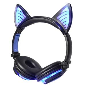 Image 3 - LIMSON 3.5 มม.ไร้สาย Bluetooth หูฟังน่ารักชุดหูฟังเรืองแสงพับแมวหู Headband ของขวัญเด็กหญิง