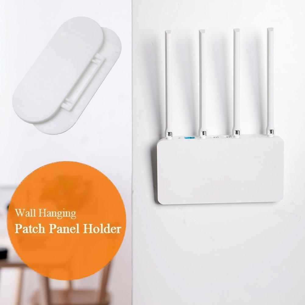Power Strip Holder Row Insert Punch-free Wall Hanging Patch Panel Holder Hot!!