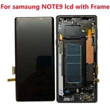 ORIGINAL AMOLED 6.4 ''LCD mit rahmen für SAMSUNG GALAXY Note 9 LCD Note9 Lcd Display N960D N960F LCD Touch bildschirm mit linie