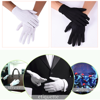 цена на White Gloves Magician Honor Guard Hands Protector Full Finger Men Women Formal Tuxedo Etiquette Reception Parade Labor Insurance