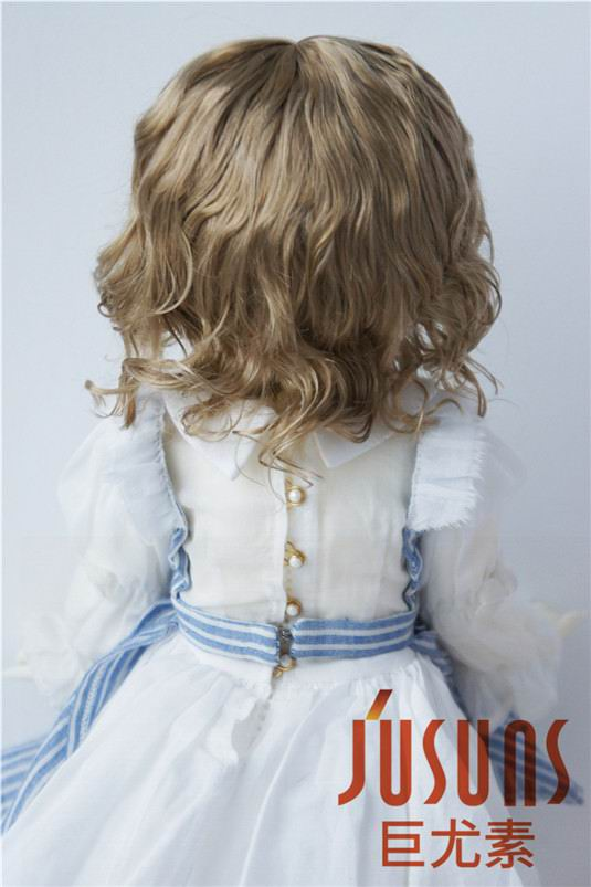 Image 5 - JD260 Large Size 9 10 inch 10 11inch Doll Wig Pretty synthetic mohair BJD wigs Lady slight Wave doll hair doll accessoriesDolls Accessories   -