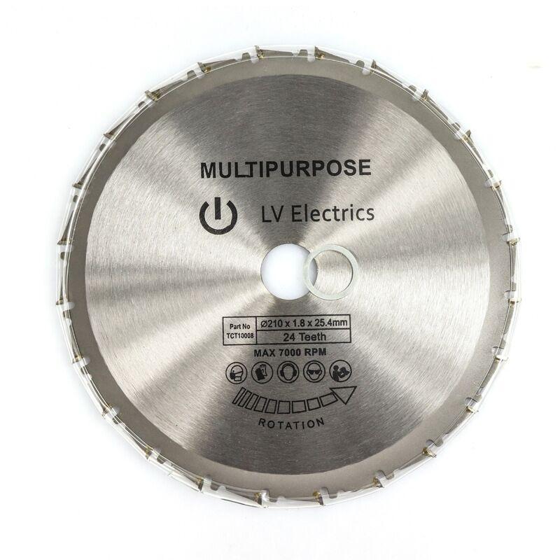 1pcs 210mm Wood Cutting Metal Circular Saw Blades 24T For Tiles Ceramic Wood Aluminum Disc Diamond Cutting Blades