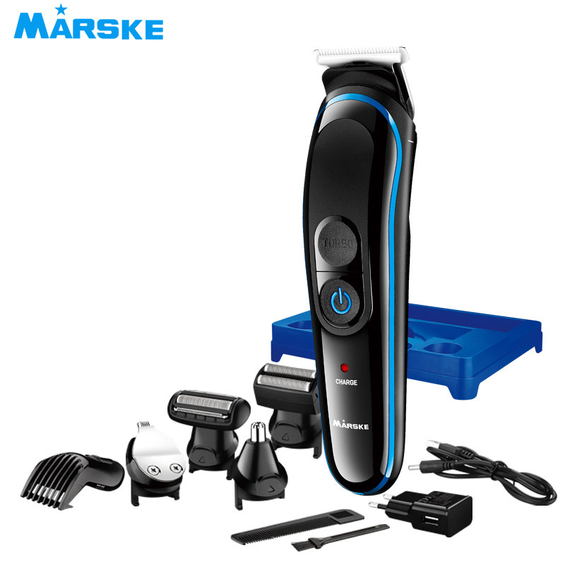2019 New 5in1 Waterproof Rechargeable Electric Beard Cutter Hair Clipper Nose Hair Beard Trimmer Shaver razor barber in Epilators from Home Appliances