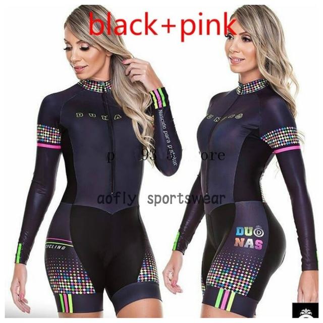 Laranja longo de mangas compridas camisa ciclismo skinsuit 2020 mulher ir pro mtb bicicleta roupas opa hombre macacão 9d gel almofada skinsuit 5