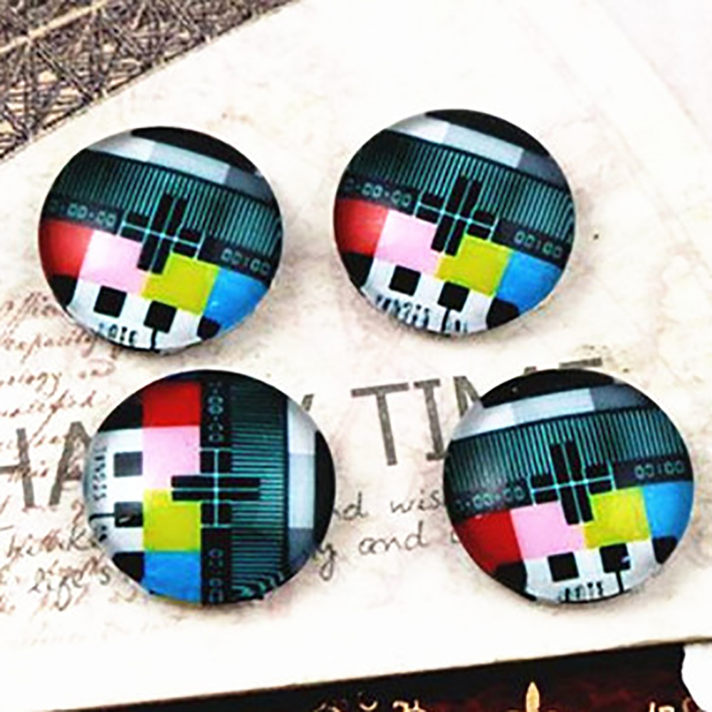 New Fashion  20pcs 12mm Handmade Photo Glass Cabochons   E2-59